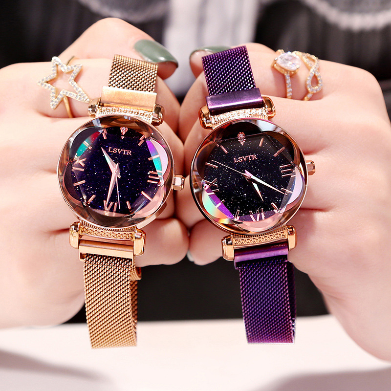 Dropshipping Fashion Women Watches 2019 Best Sell Star Sky Watch Luxury Rose Gold Women Quartz Wrist Watches фото