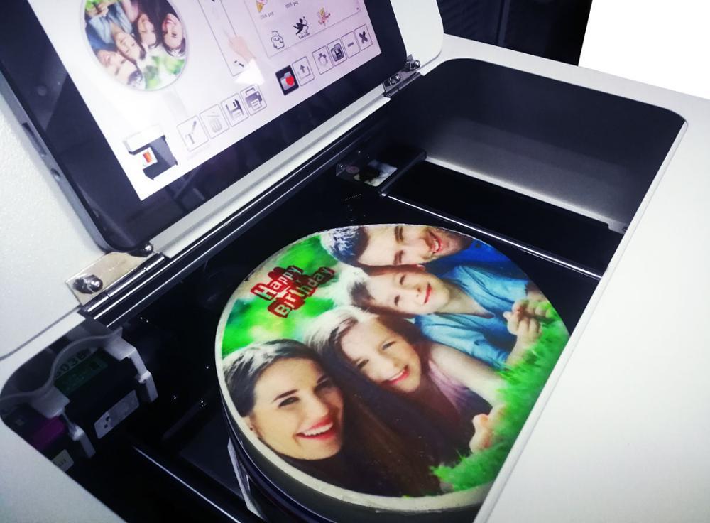 새로운 조건 케이크 음식 평판 프린터 플레이트 타입 커피 인쇄 기계를 할 수 있습니다