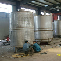 stainless steel 304 wine fermentation tank with cooling jacket