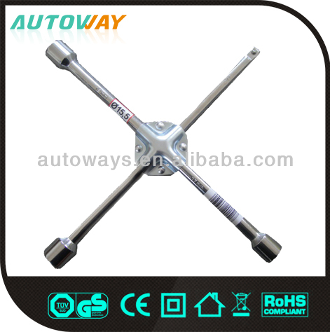 X Cross Rim Wrench with iron pad