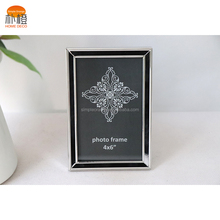 Simple Orange 4x6 Silver Square Ornate Picture Frames Glass Metal Photo Frames