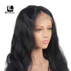 Wholesale price black body wave curly synthetic 13x4 HD lace front wigs best seller in us gold medal