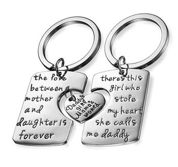 Men's Womens Romantic Stainless Steel Family
