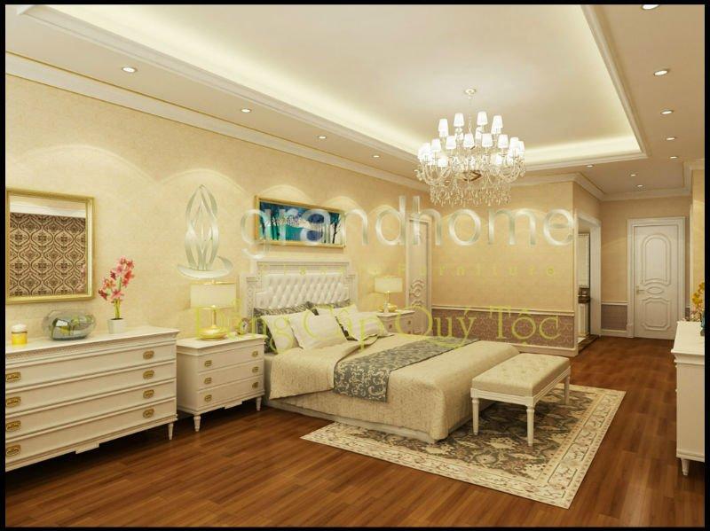 Illuminazione casa classica: illuminazione della camera da letto