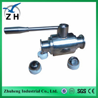 sanitary quick install three-way ball valve with high platform