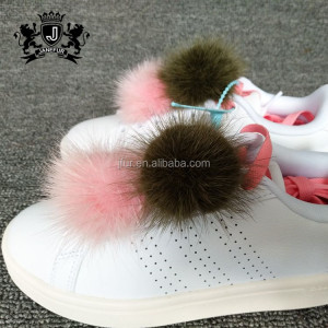 Quality Primacy Cell Phone Bag Tassel Pom Mink Fur Ball Keychain