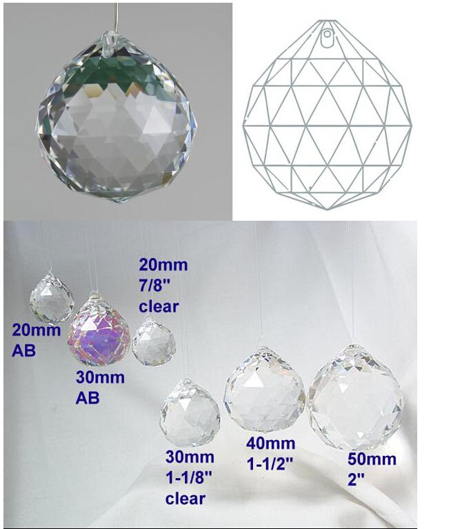 Lampadario Con Sfere Di Cristallo.30mm Lampadario Chiaro Palla Sfera Di Cristallo Appesi Goccia Di