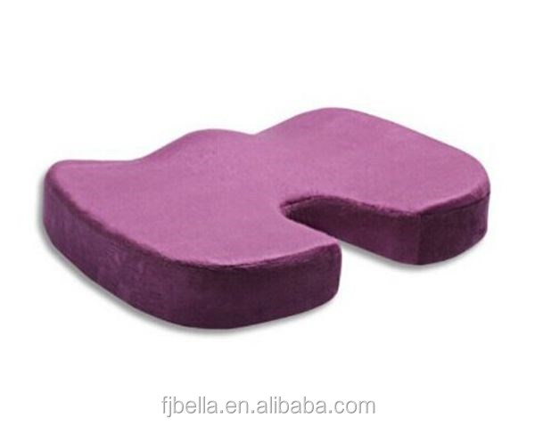 Purple Memory Foam-Coccyx (Tailbone) Orthopedic Comfort Seat Hemorrhoid Cushion Adult Car Booster Cushion