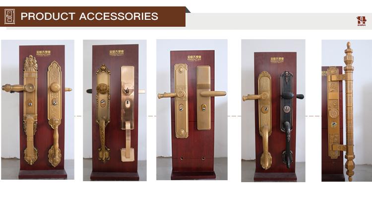 ผลิตภัณฑ์ใหม่สไตล์เม็กซิกันที่อยู่อาศัยการรักษาความปลอดภัยเหล็กประตูไม้หุ้มเกราะ
