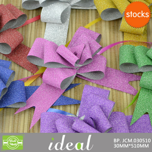 "4"" decor Crafts Wedding Party Xmas Gift Wrap fancy bow small Christmas pull bows"