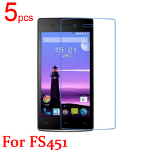 5pcs Ultra Clear LCD Screen Protector Film Cover For Fly FS451 Protective Film  +  cloth free shipping