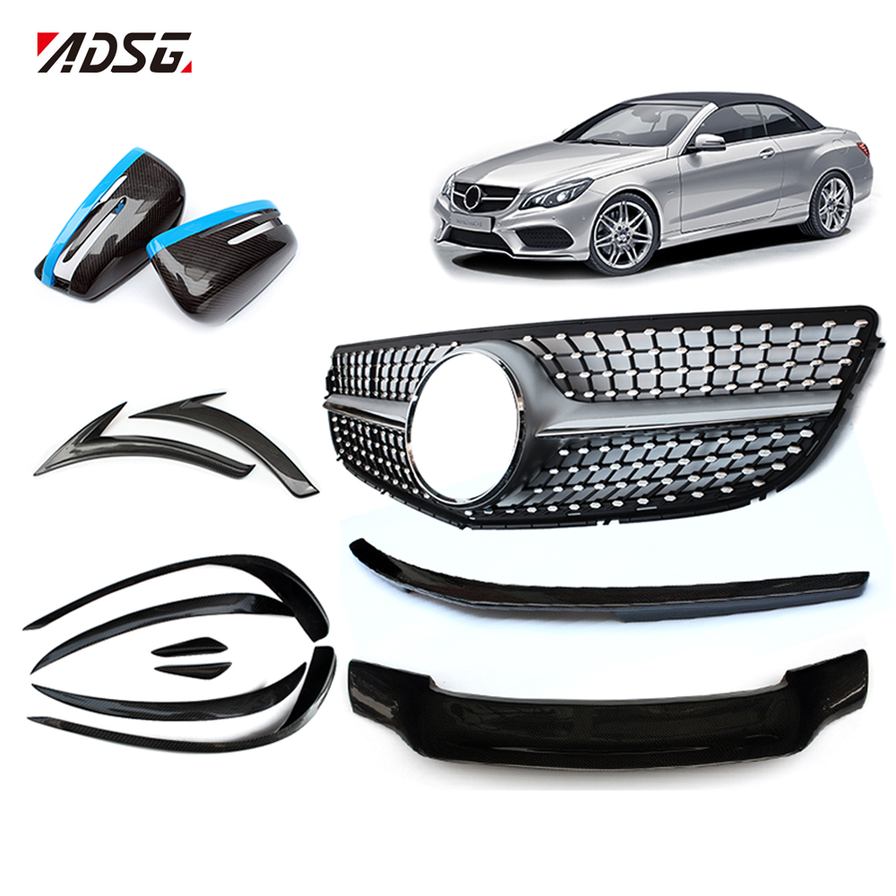 W207 Facelift Diamonds Style Chrome Car Grilles For Benz W207