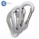 Custom All shaped Small Carabiner Hook D Aluminum Carabiner