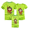 Good luck Monkey Printed Family Mother and Son Clothes Family Look T shirts 9 Colors Summer
