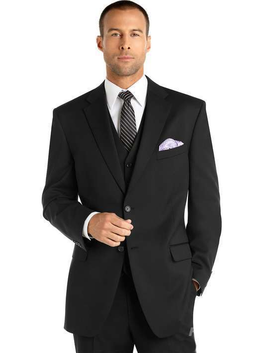 Get Quotations · Notch Lapel Two Buttons Slim Fitted Black Grooms Suits  tuxedos for men men suits for wedding efa34e1cda5