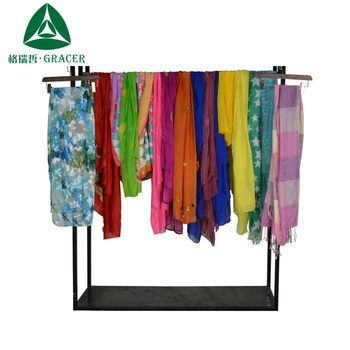 Bales 100Kg new fashion Silk Scarf used clothing cheap used clothes
