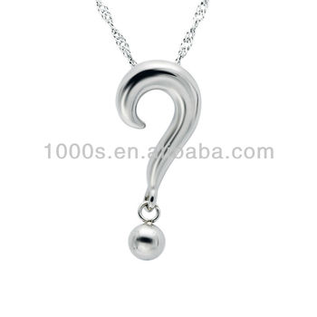 Funny stainless steel jewelry punctuation question mark pendant funny stainless steel jewelry punctuation question mark pendant aloadofball Choice Image