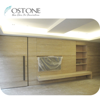 Modern Design Yellow Natural Travertine TV Cabinet Customized For Sale