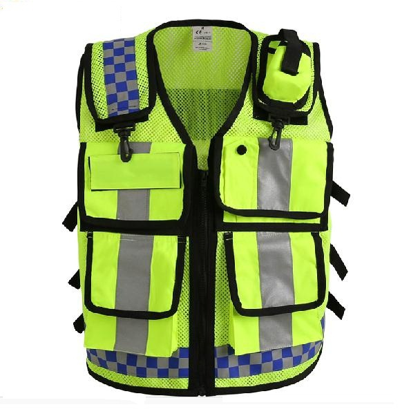 Buy New Multi Pocket Traffic Safety Reflective Vest 4 Pockets Tooling Work Clothes Sanitation In Cheap Price On Alibaba