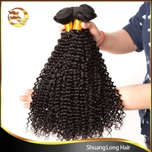 Afro Kinky Curly Hair Brazilian Hair Weave Bundles virgin human Hair Extensions Natural Color