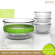 Hand Blown Heat Resistant Microwave glass bowl with lid for Candy Salad Ice Cream