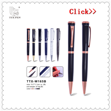 New Arrival High Quality Beautiful Personalized Logo Colorful Metal Roller Pen Ballpoint Pen