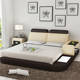 chinese king size day leather bed with led light