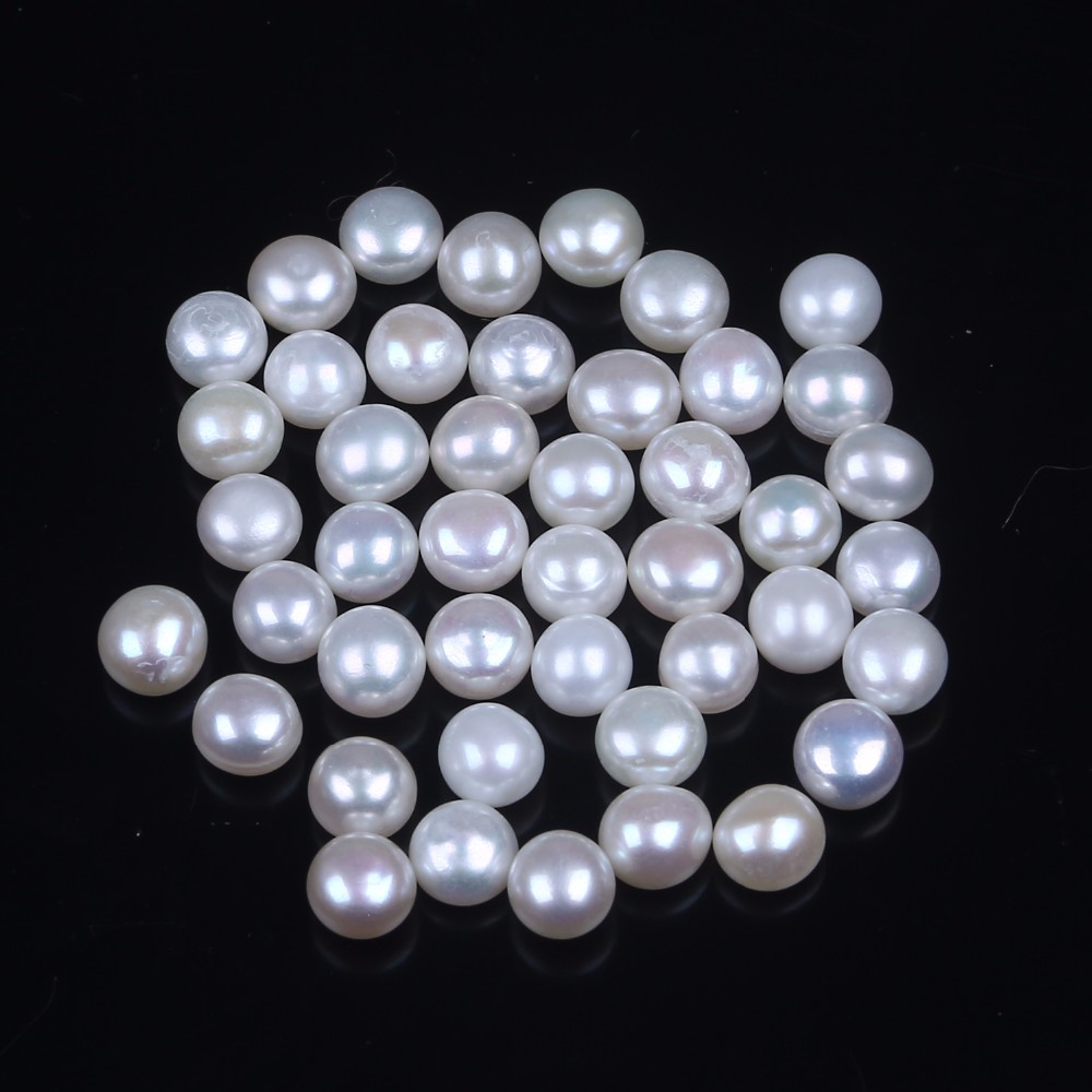 5mm 6mm AA Freshwater pearl Cultured Loose Button Pearl DIY Jewelry Making