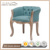 Green Cafe Bar chairs Low back dining chairs upholstered tufted back Oval chairs