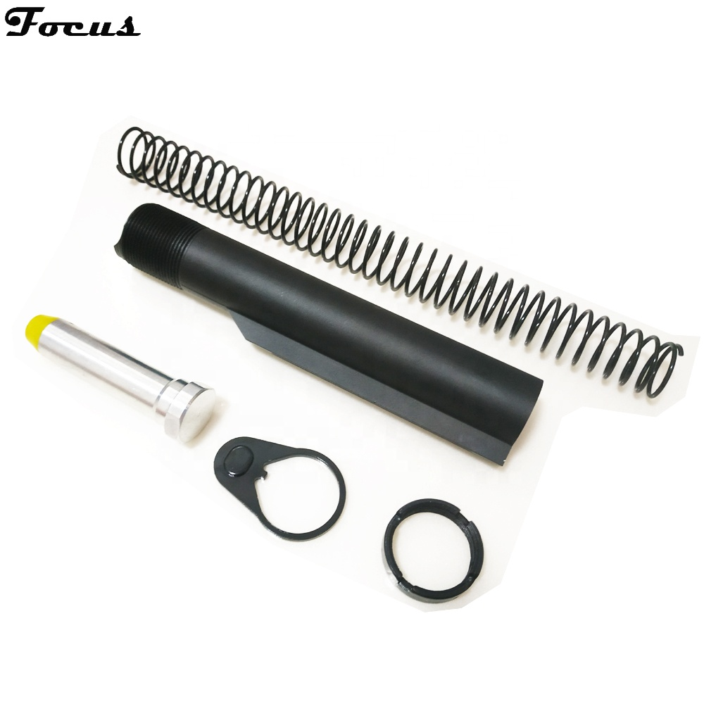 AR15 M4 Mil Spec 6 position Buffer Tube Kit with Recoil Spring Buffer Lock Ring Receiver Extension T6 Aluminum