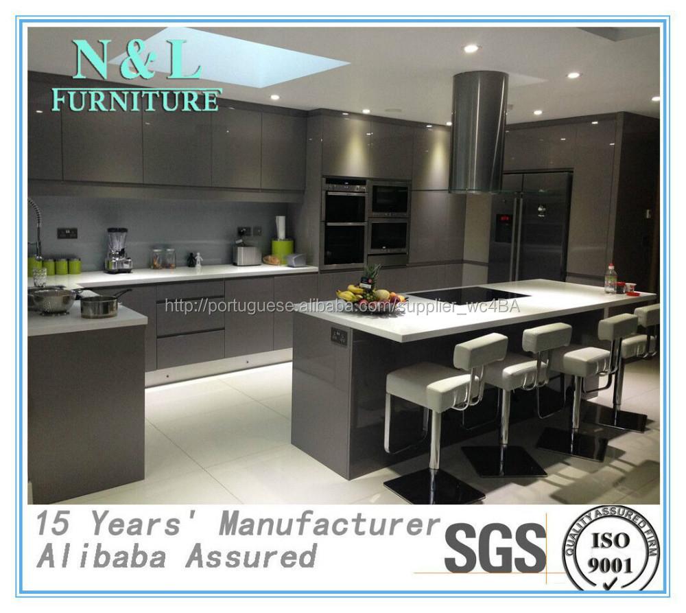 Gloss Madeira 2015 Nova Moda Moderna E Pintura De Cetim Cozinha