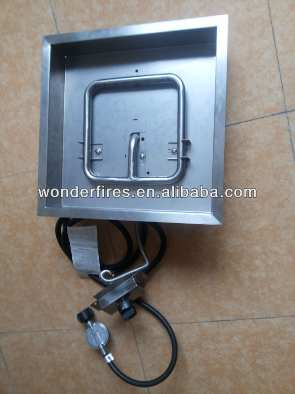 Gas Firepit Pan System Square Round Rectangle Custom