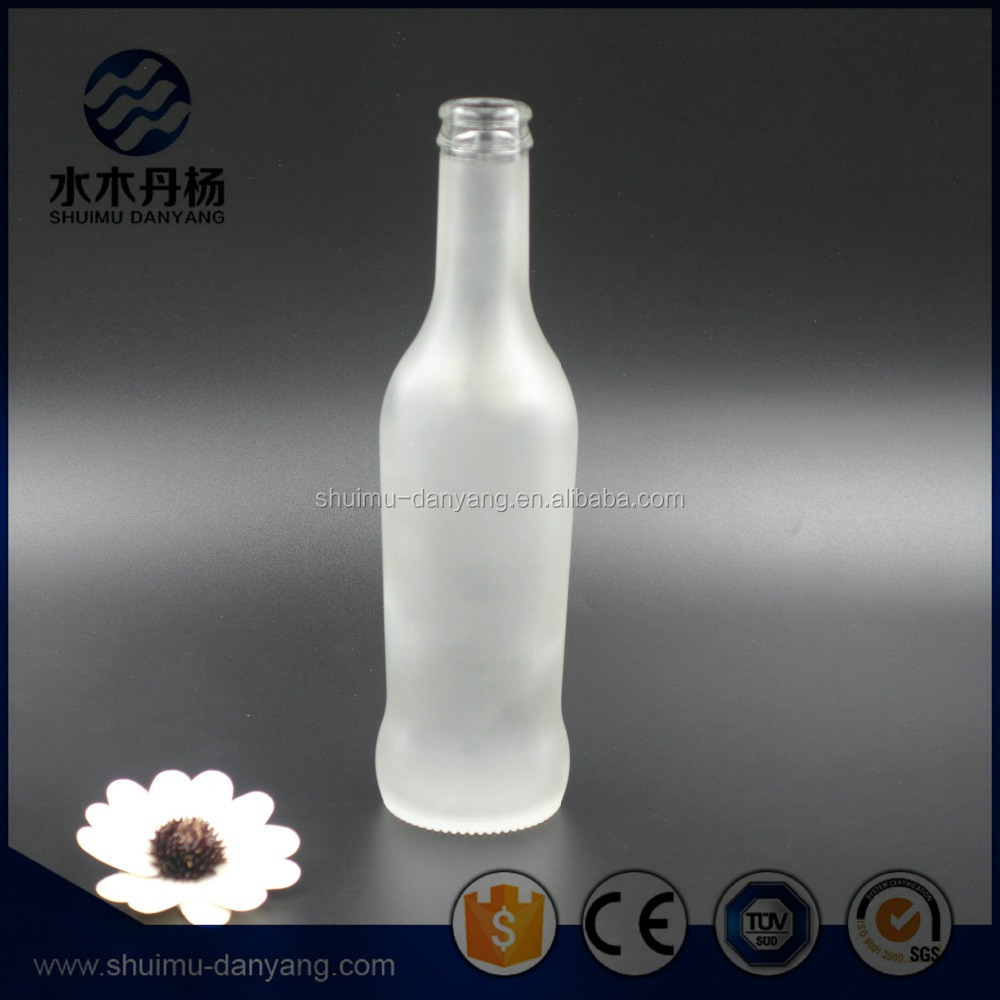 High quality CE certificate 275ml frosted glass rio cocktail drinking bottle