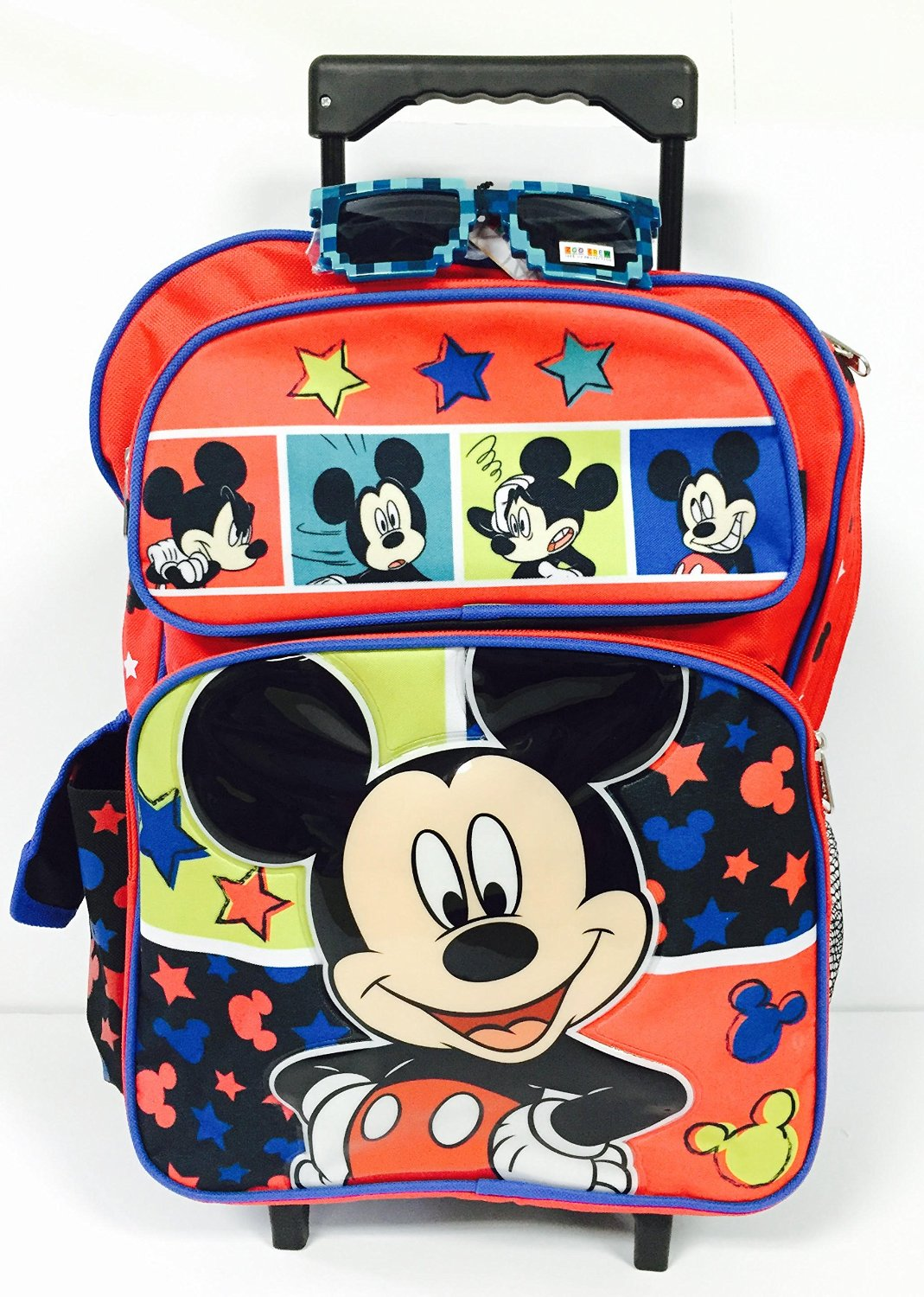 dd18d15f68d Get Quotations · Disney Mickey Classic Large Rolling Backpack and Gift Set