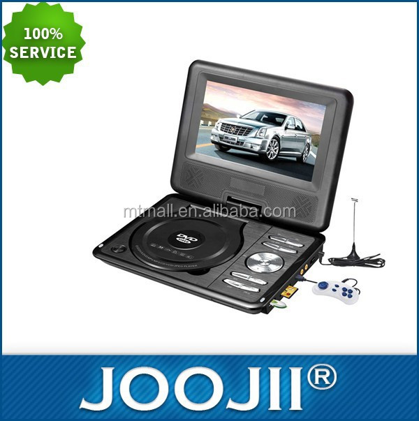 Ultra Slim 9inch Portable DVD player with Game /MP3 CD Copy/ 3D function