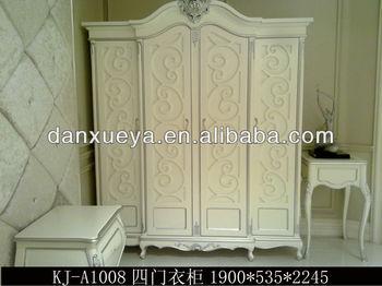 Franse barok stijl hand gesneden ontwerp deur ivoor wit mdf