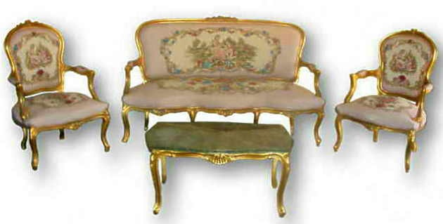 French Louis Xv Style 6 Piece Salon Suite Reproduction Furniture Product On Alibaba