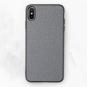 Free Shipping Cloth Texture Soft TPU Mobile Phone Case Covers FLOVEME Original For iPhone X XS XS MAX XR Case