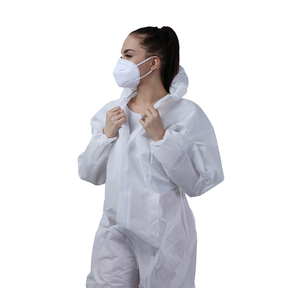 All Purpose Protective Lightweight Disposable SMS Coverall Suits