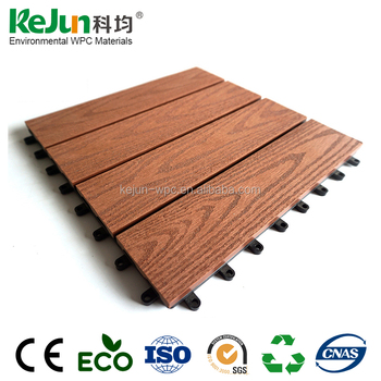 Kejun Hot Sale Ecofriendly Diy Tile Floor Composite Decking Board