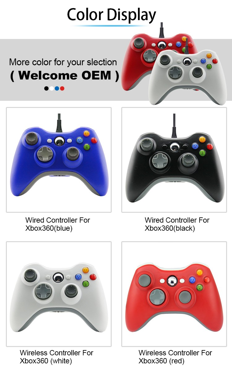 China Supplier Wired Joypad Controller Joystick For Xbox 360 Console