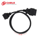 Wholesale price and lowest 1.5M Long 16Pin Male to Female ELM327 OBD II OBD2 Extension Cable Connector Auto Car Diagnostic cable