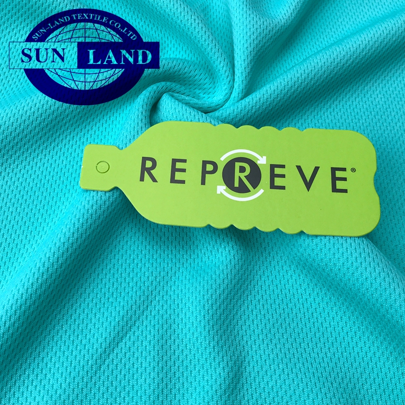 China products eco-friendly recycled polyester knitted micro eyelet mesh fabric for sportswear