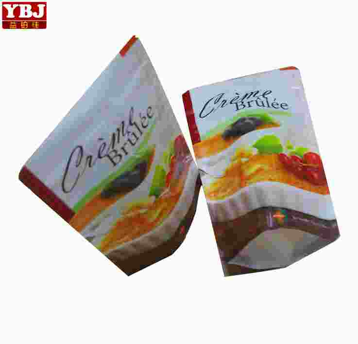 Custom Printed Stand Up Aluminium Biodegradable food Packaging stand up foil bag for sauce