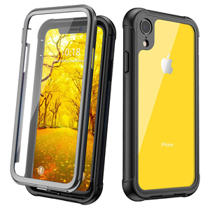 Clear Full-Body Heavy Duty Protection Case with Built-in Screen Protector Shockproof Rugged Cover for iPhone XR Case (2018)