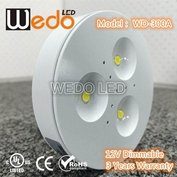 WD-300A-3W 270lm LED Puck Light for Cabinet/counter