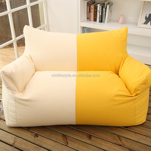 visi 2016 new couple two seats giant bean bag sectional sofa