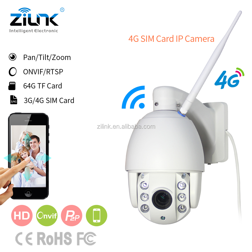 4G security camera IP wifi wireless ptz 4 x zoom waterproof and 2MP