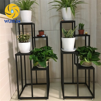 2017 High Quality Indoor Home Decor Metal Black Wall Iron Flower Pots Stands