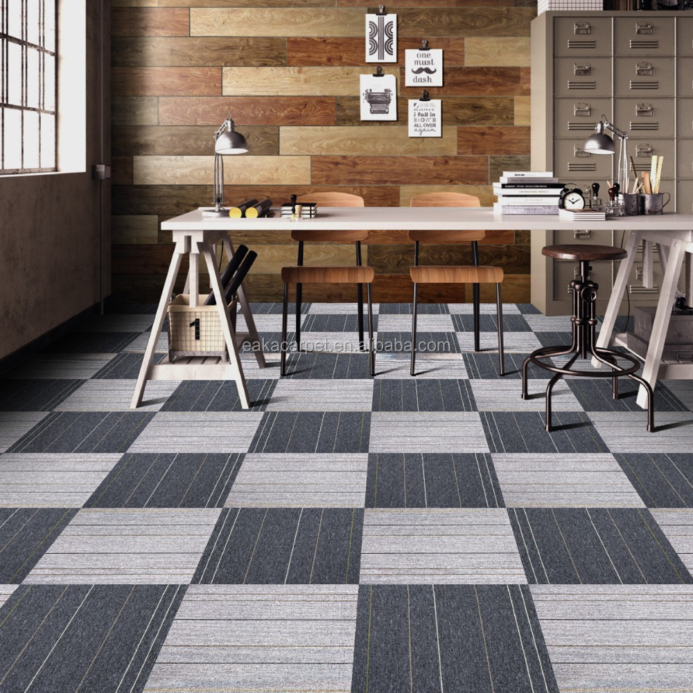 Modern design 100% pp yarn 50*50cm fireproof office carpet price lowes